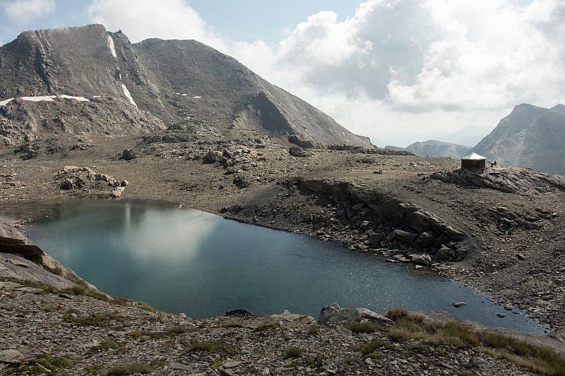 Lago Mongioia visto salendo all'omonimo monte