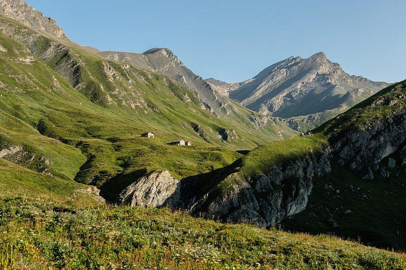 Nel vallone di Rui (cima Salza a destra)