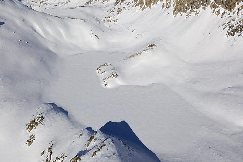Lago di Roburent ripreso dal drone dalla parte opposta