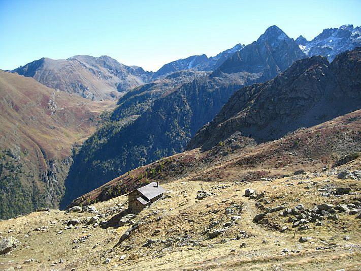 Panorama verso il passo sottano di Scolettas (2223 m)