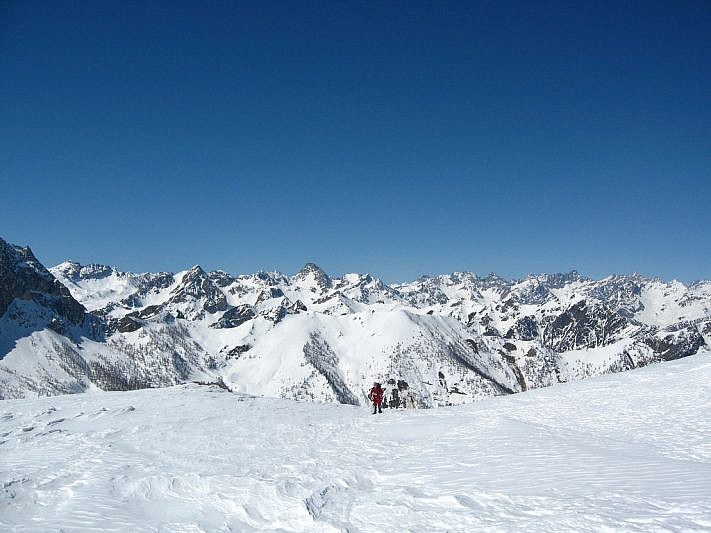Panorama verso l'alta Valle Maira