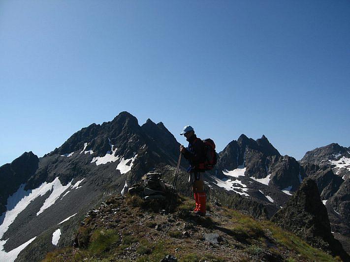 Arrivo sulla cima della Testa del Ferro (2769 m)