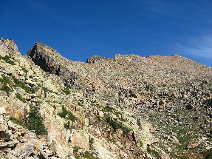 Dal colle Aver (2585 m) verso la Testa Gias dei Laghi (2739 m)
