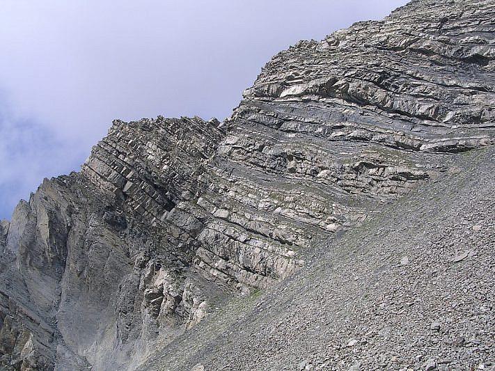 Le rocce stratificate dell'Enciastraia