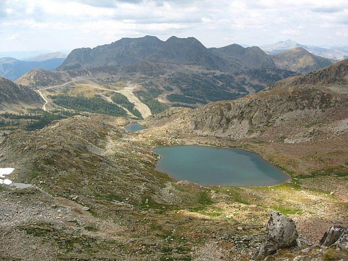 I laghi di Terre Rouge visti dalla Bassa del Druos