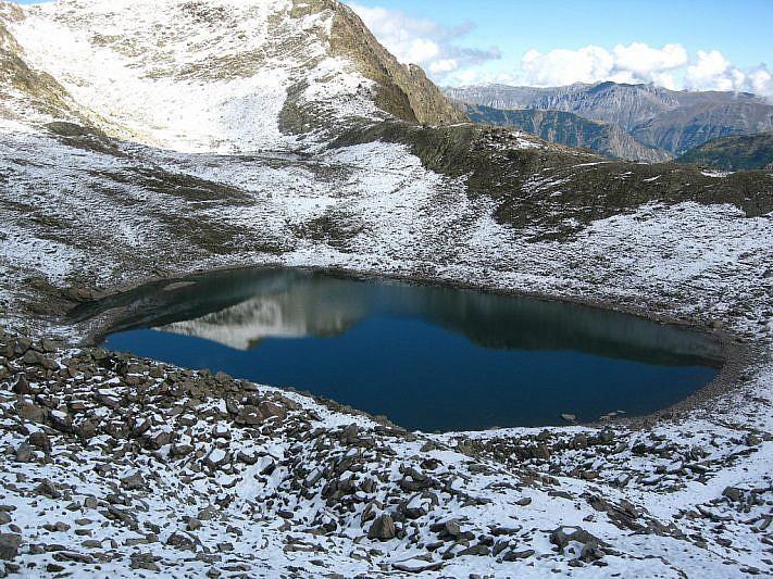 Il lago inferiore di Collalunga