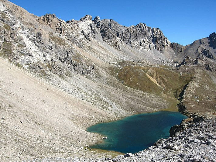 Il lago mediano di Roburent (2360 m)