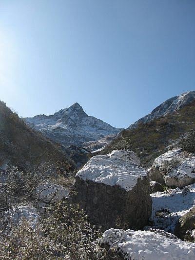 Il Frisson dal Vallone degli Albergh (foto scattata da Valerio il 18 ottobre)