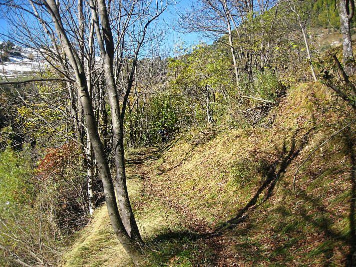 Lungo il sentiero verso le borgate di Moriglione