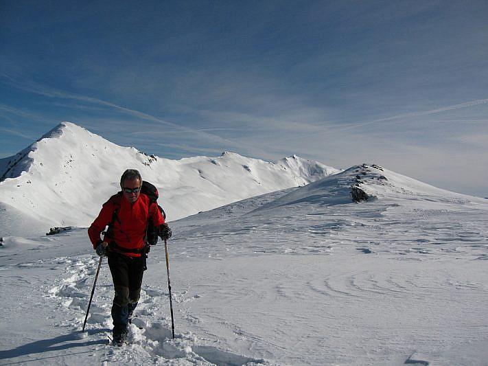 A sinistra il Monte Grum visto dal Colle