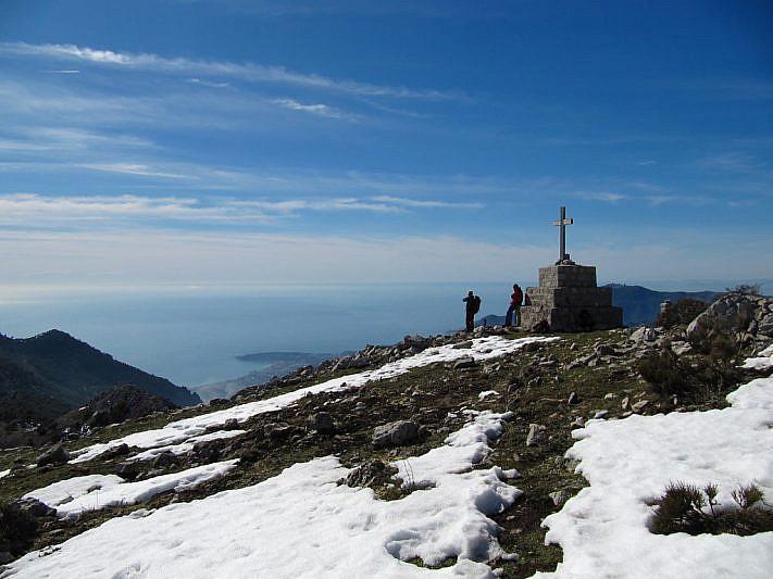 Dalla punta, vista sul mar Ligure
