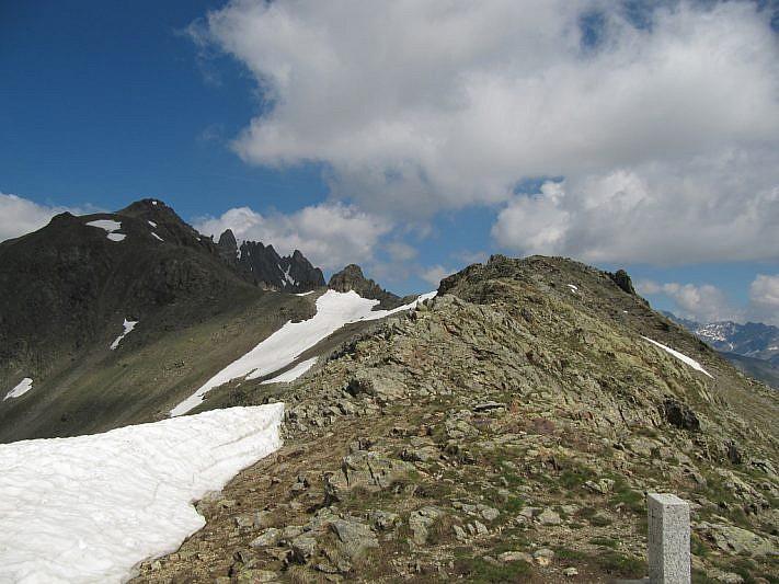 Dal Colle del Ferro veduta verso Cima del Bal (2831 m)