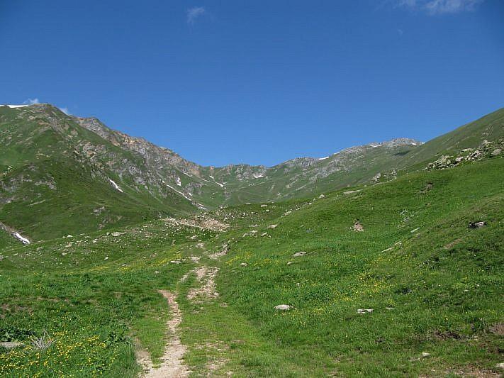 Nella parte superiore del vallone