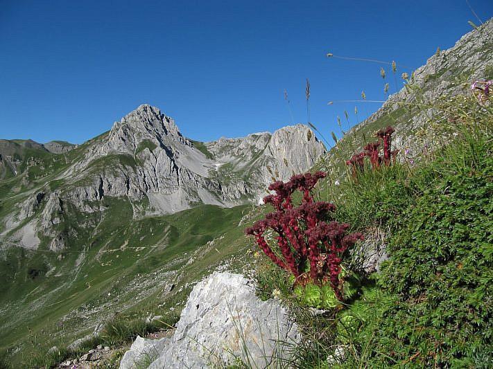 A sinistra il Monte Salè, a destra la Rocca Salè