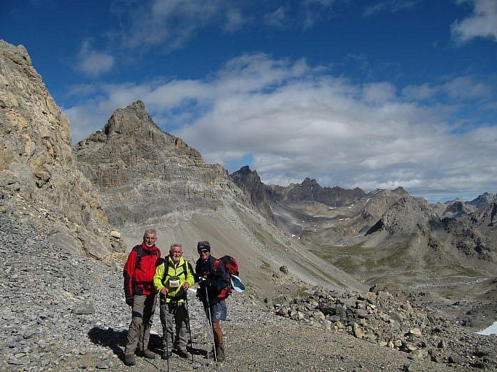Arrivo al Colle della Portiola (2899 m)