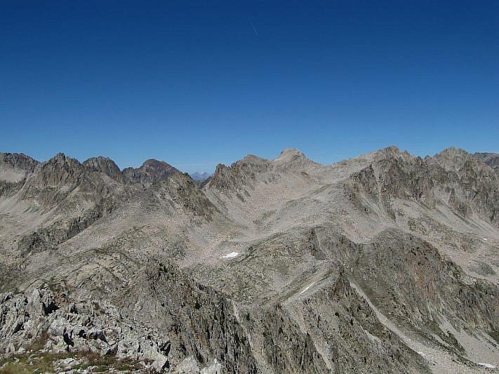 Panoramica dalla cima verso nord
