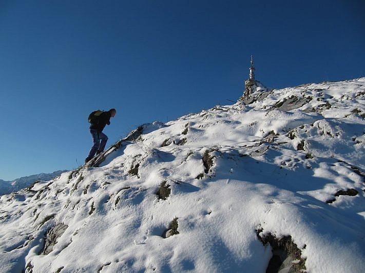 Riccardo a due passi dalla cima