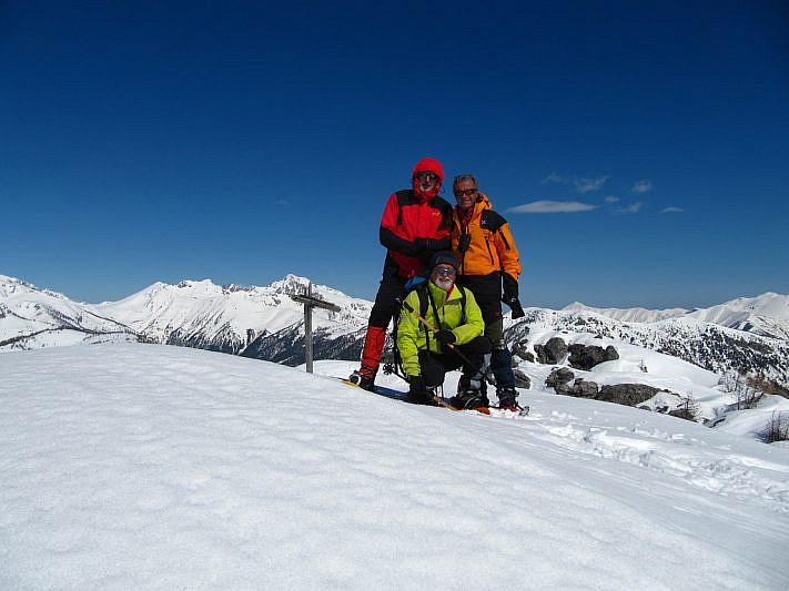 Foto di gruppo sulla seconda cima
