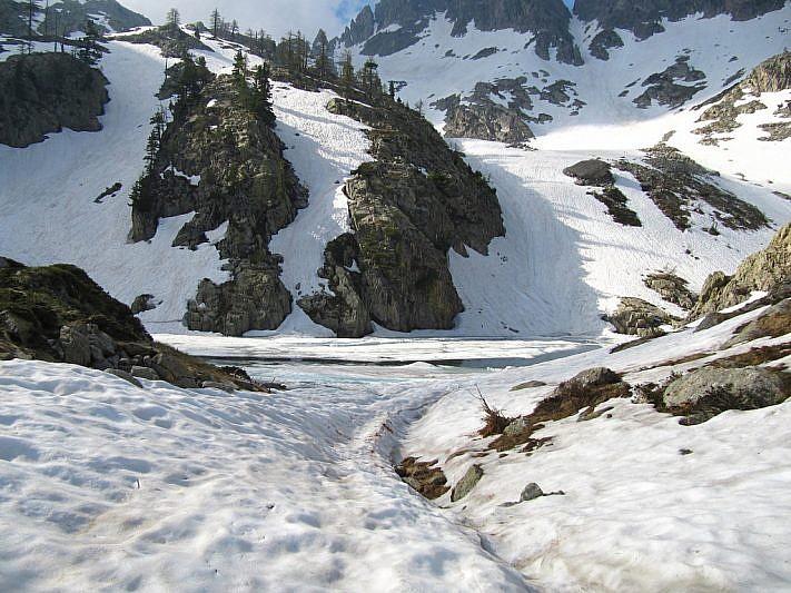 Ecco come appare il lago di Valcuca al mio arrivo
