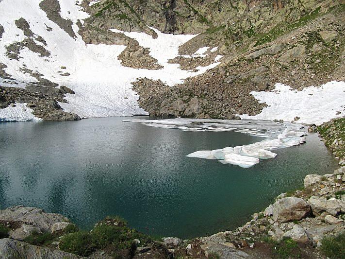 Arrivo al Lago Bianco del Gelas