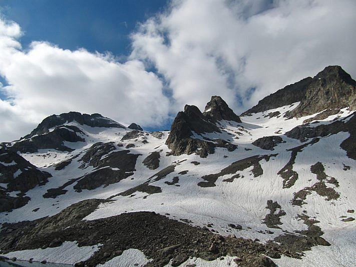 Da sinistra: Caire del Muraion, Maledia, Cima Borello e Cima Chafrion