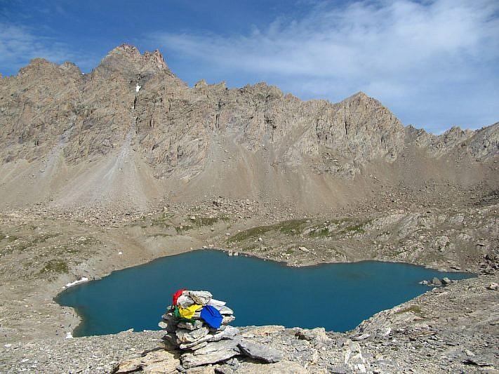 Lac des Neuf Couleurs visto dal Col di Gippiera