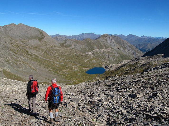In discesa verso il Lac de Foréant