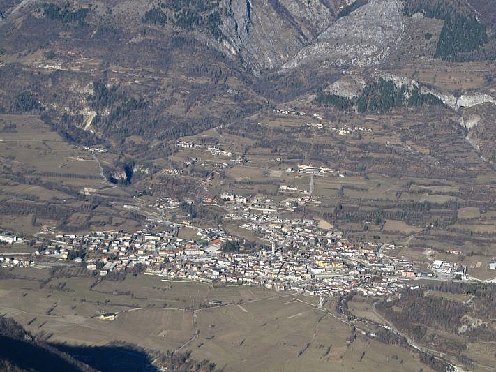 Demonte (1100 m più in basso) visto dalla Cialancia