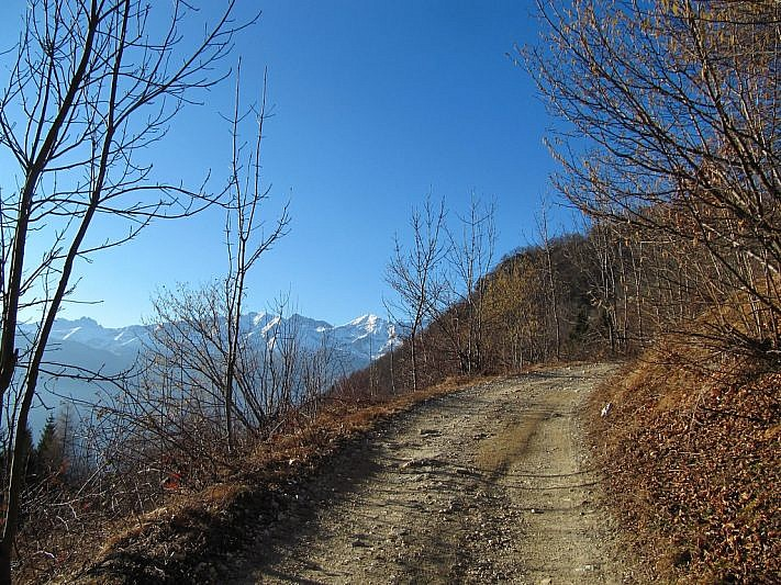Nel tratto oltre Montrosà verso il vallone di Rio Fons