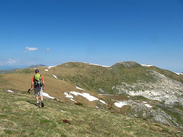 A destra, la cima Nord di Serpentera