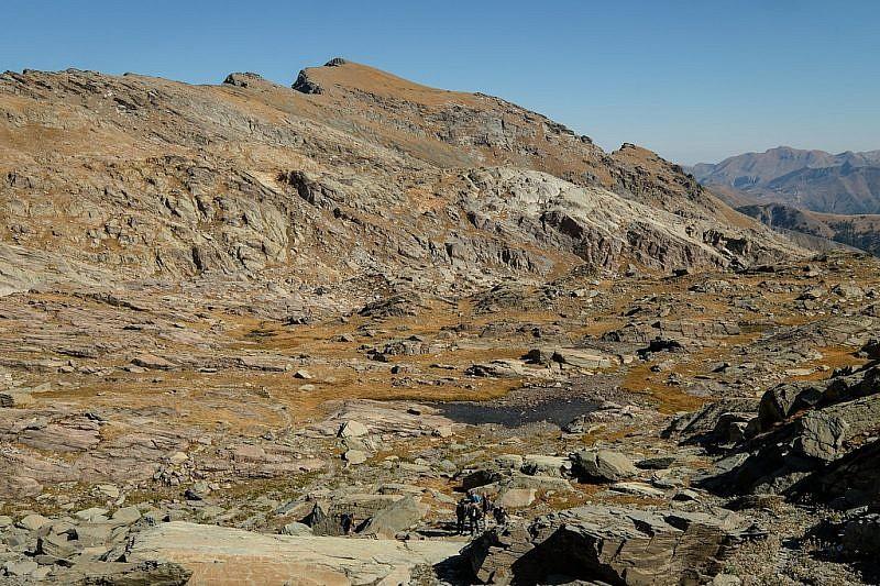 Laghetti sulle Ciappe con lo sfondo del mont St. Marie