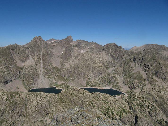 Lac Noir e lac Vert visti dalla cima