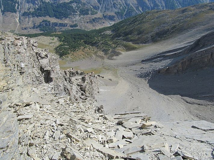 Panorama dalla cima verso Argentera