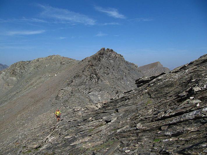 Salendo verso la Punta dell'Alp
