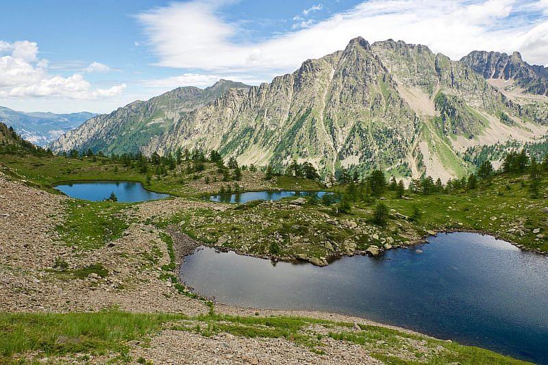 I laghi gemelli e il quarto lago visti dall'alto