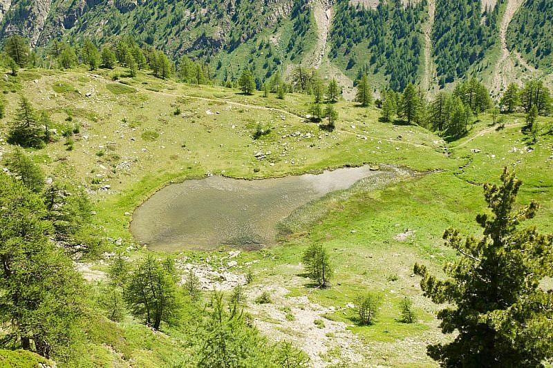 Ancora il primo lago visto dall'alto