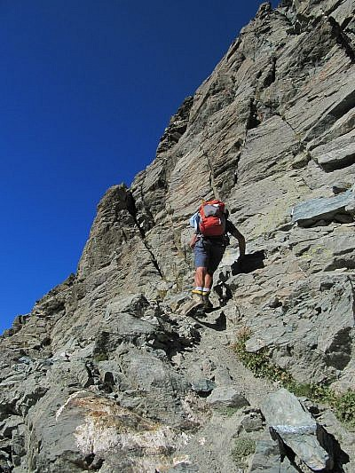 Inizio del tratto alpinistico