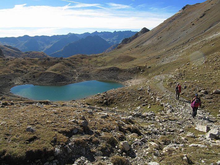 Arrivo al lago Oserot