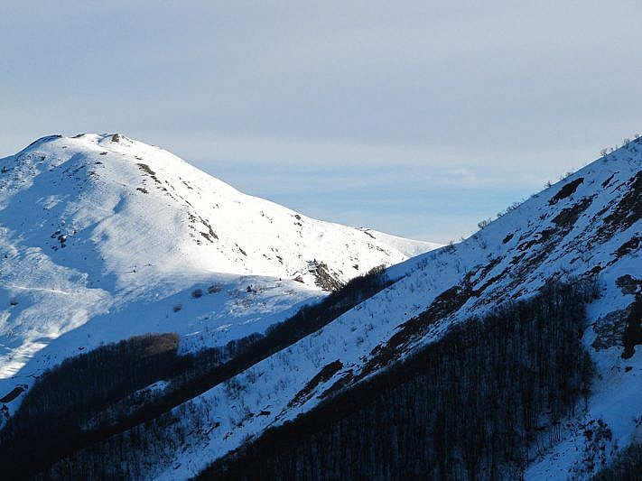 Il Monte Vecchio (fotografato il 27 dicembre 2012 dalla Costa Campaula)
