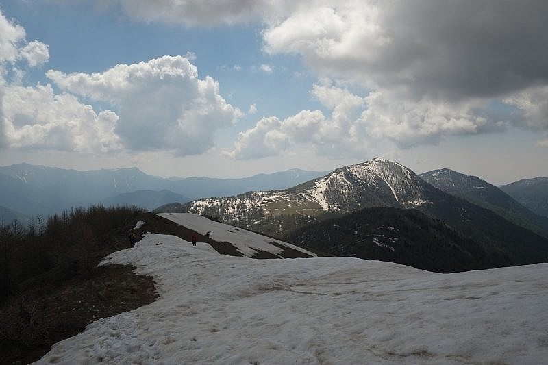 Il Mont Chajol illuminato dal sole