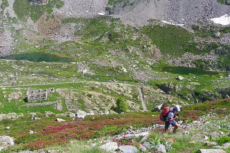 In risalita dal lago di Valscura