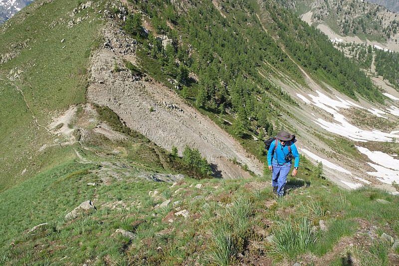 Fulvio in salita al Monte Vaccia