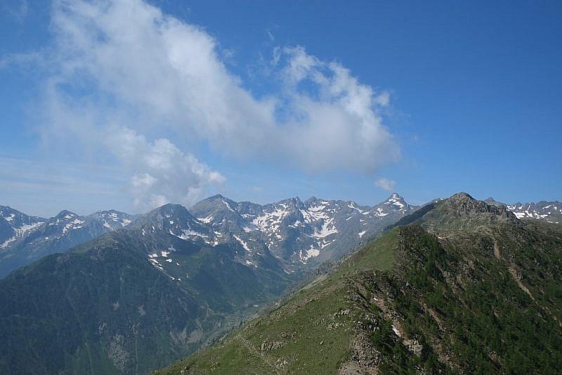 Panoramica verso Corborant e Becco Alto dell'Ischiator
