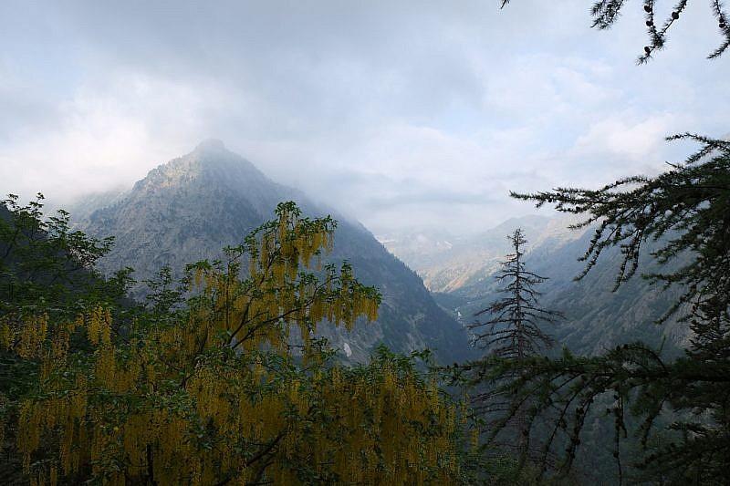 Il vallone del Valasco, purtroppo tra le nuvole