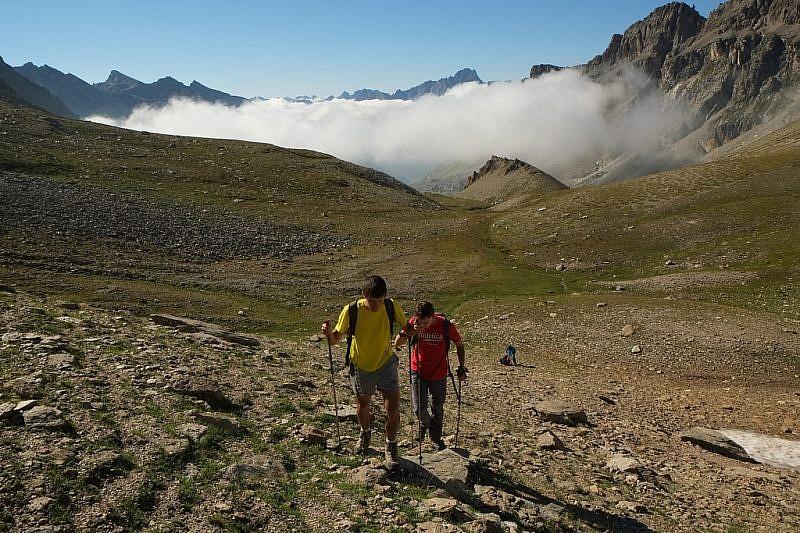 Nelle vicinanze del Colle di Roux, finalmente fuori dalla nebbia
