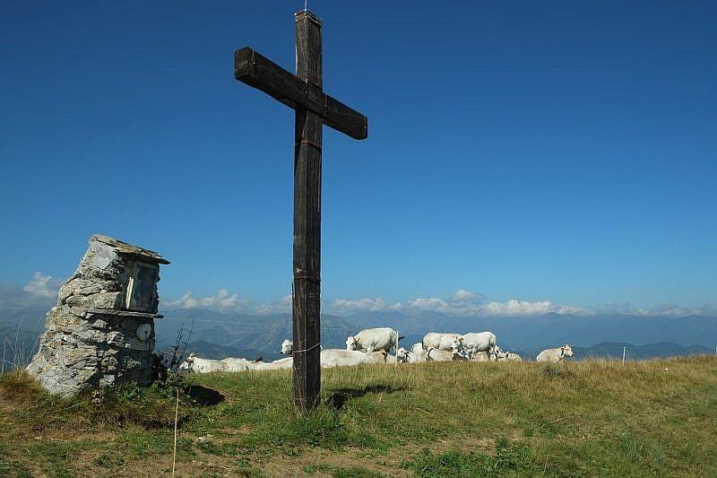 Arrivo alla croce di Rocca Stella
