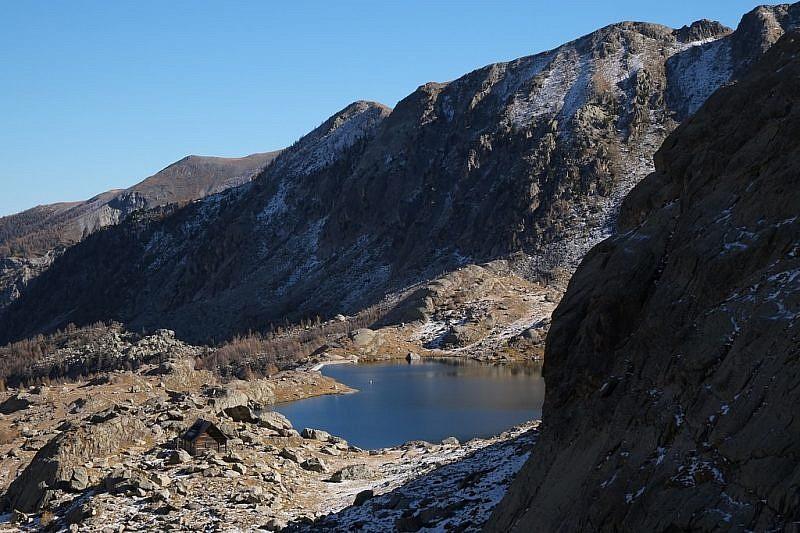 Il Lac Fourca fotografato durante la discesa