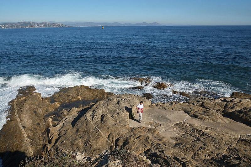 Sulle rocce de la Pointe