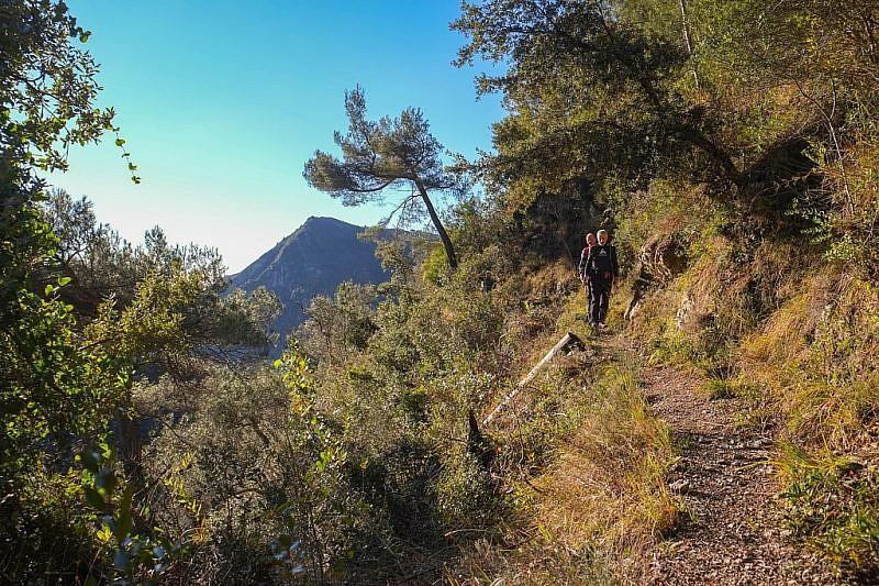 Sul sentiero in direzione della Bassa d'Abellio
