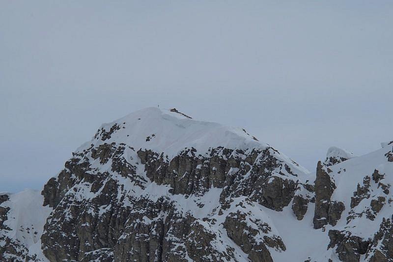 Il Monte Soubeyran ripreso col teleobiettivo